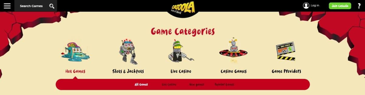 Casoola Casino Slots And Live Casino