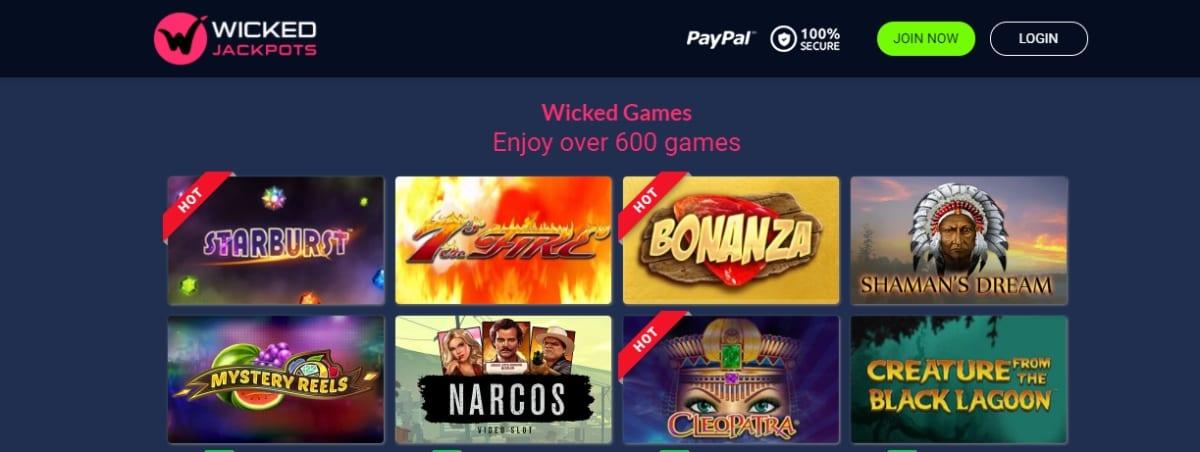 Wicked Jackpots Casino Games