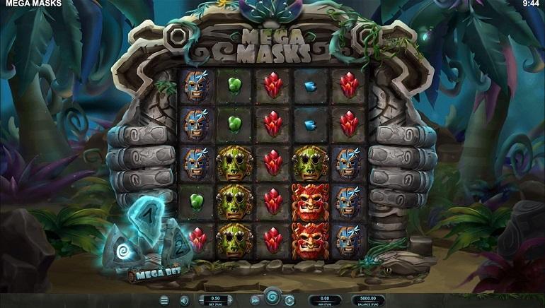Mega Masks slot gameplay