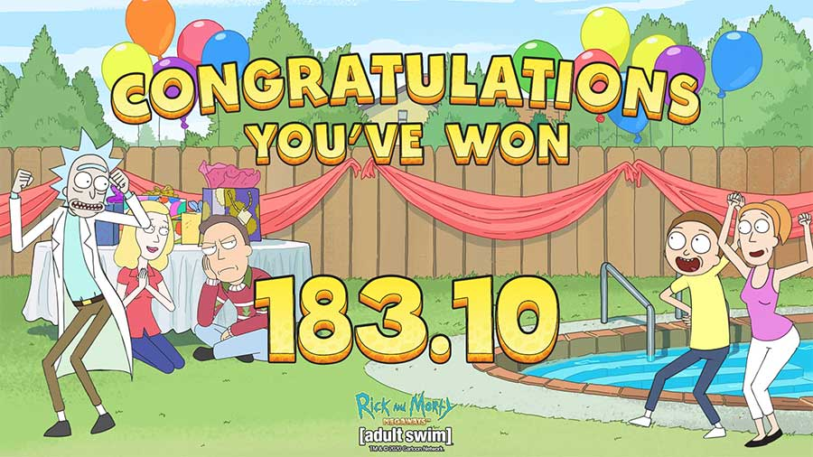 Rick And Morty Megaways big win