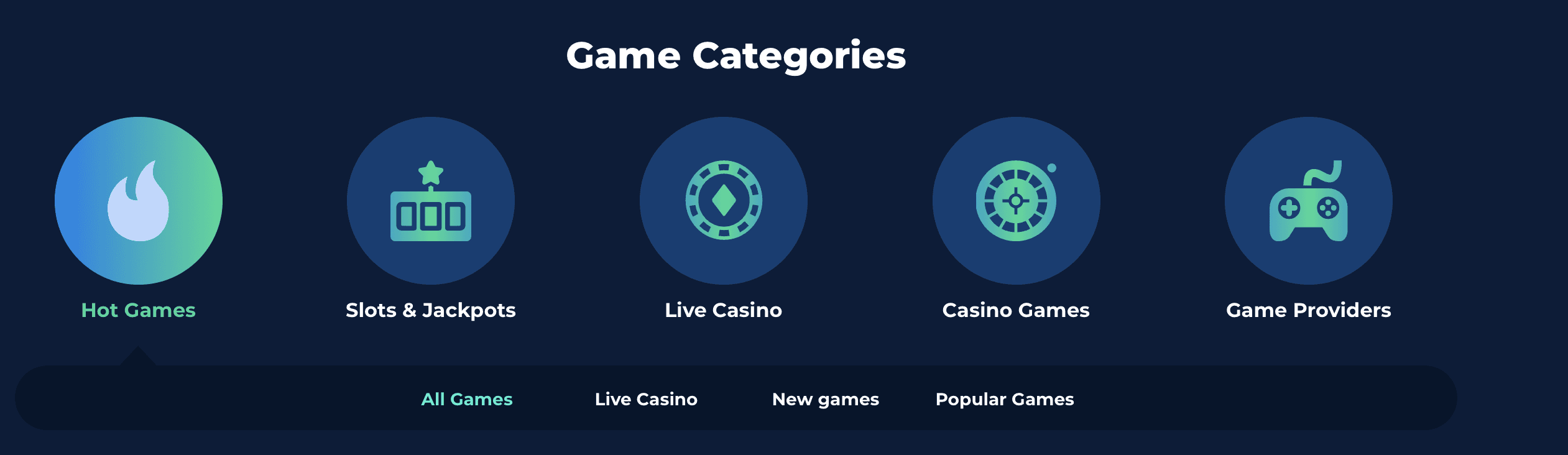 Casino Planet Games Options