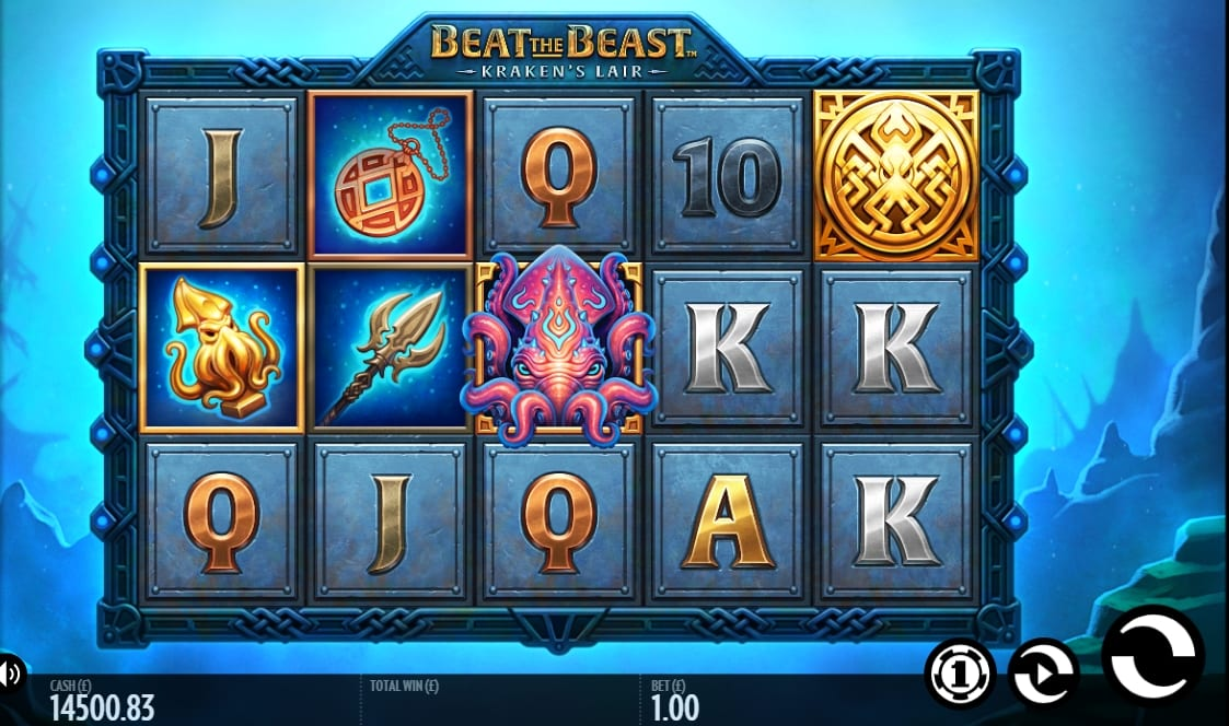 Beat the Beast Krakens Lair Slot Game Play