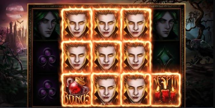 Blood Lust Slot Base Game