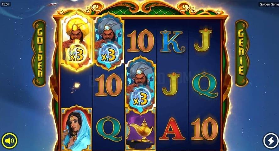 Golden Genie & The Walking Wilds Slot feature