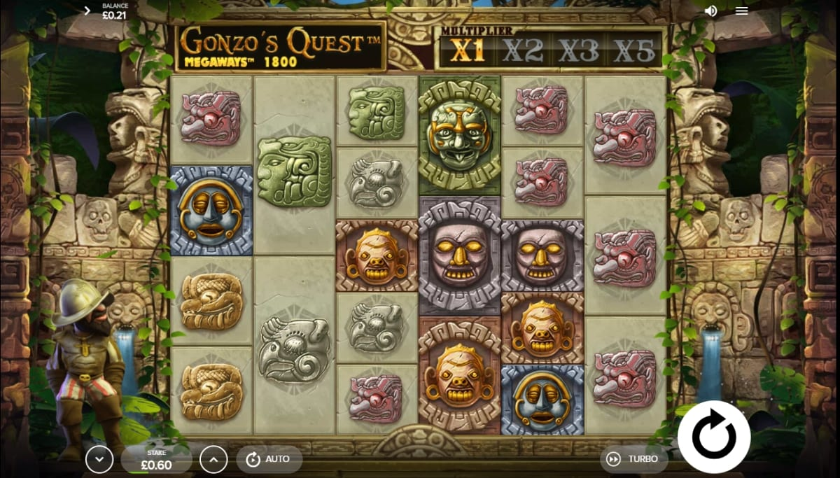Gonzo's Quest Megaways Slot Gameplay