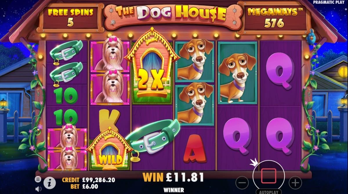 The Dog House Megaways Slot Bonus