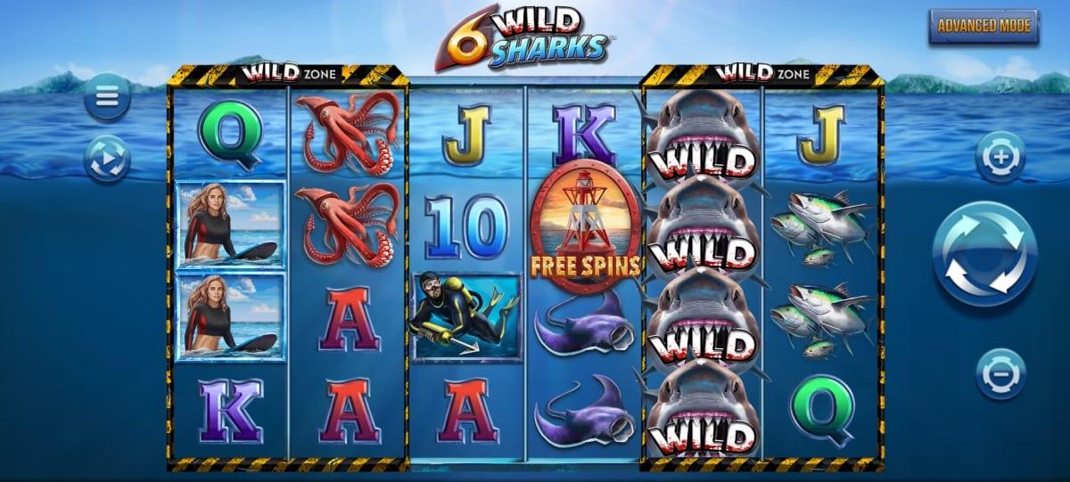 6 Wild Sharks Slot Gameplay