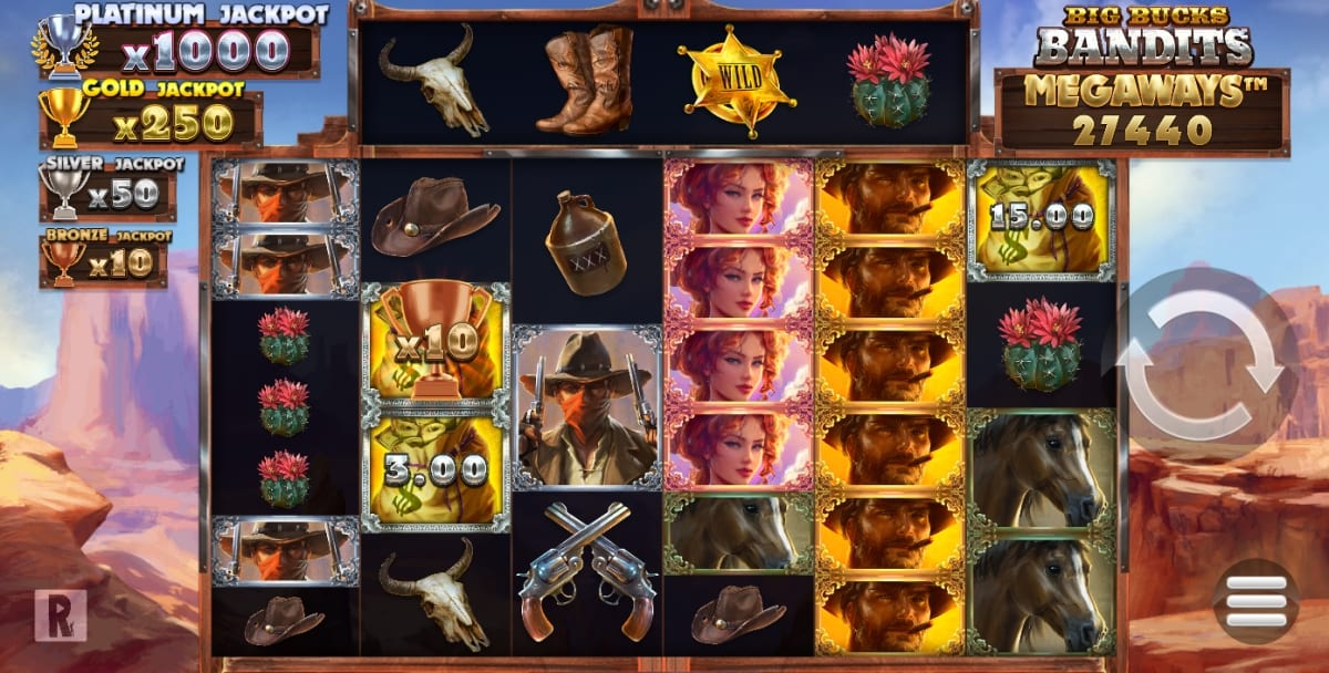 Big Bucks Bandit Megaways Slot Game Play