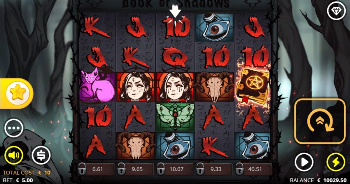 Book of Shadows Slot Gameplay