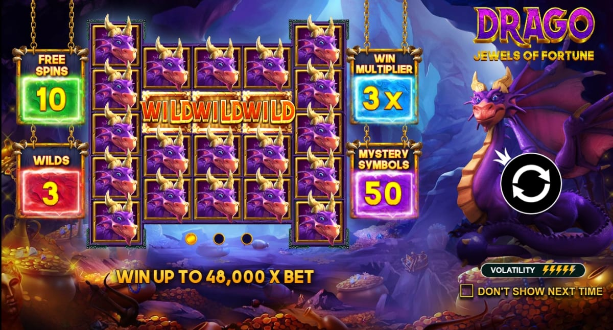 Drago Jewels of Fortune Slot Information