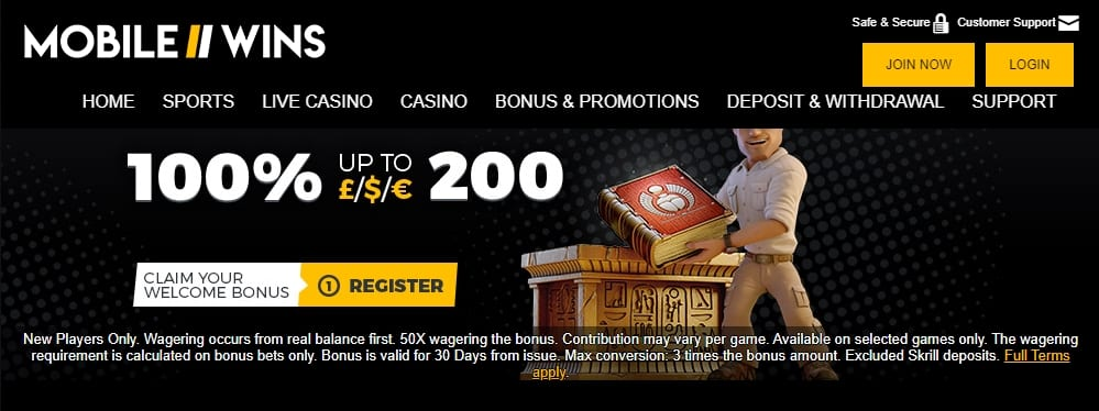 Mobile Wins Casino Promotions