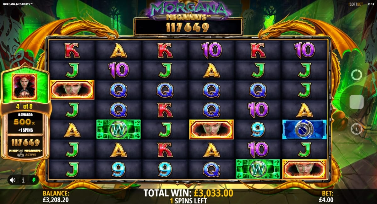 Morgana Megaways Slot Bonus