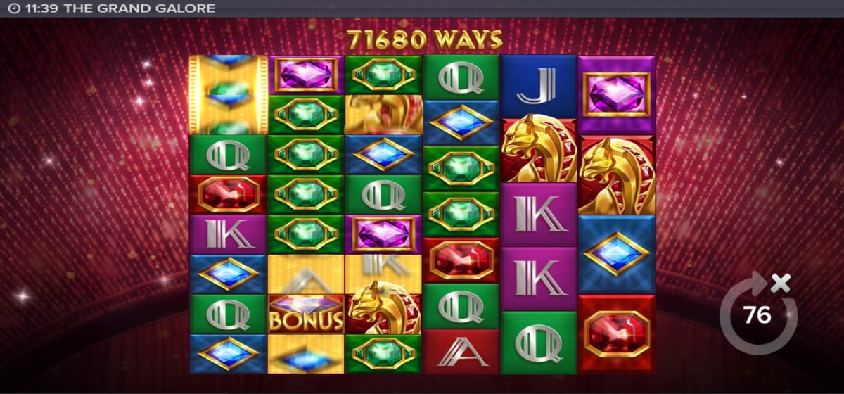 The Grand Galore Slot Gameplay