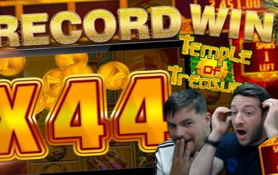 INSANE WIN!! TEMPLE OF TREASURE RECORD!!
