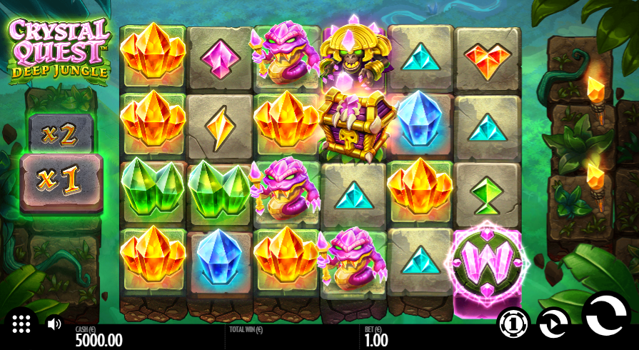 Crystal Quest Deep Jungle Slot Gameplay