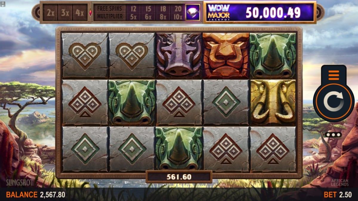 African Legends Slot Gameplay