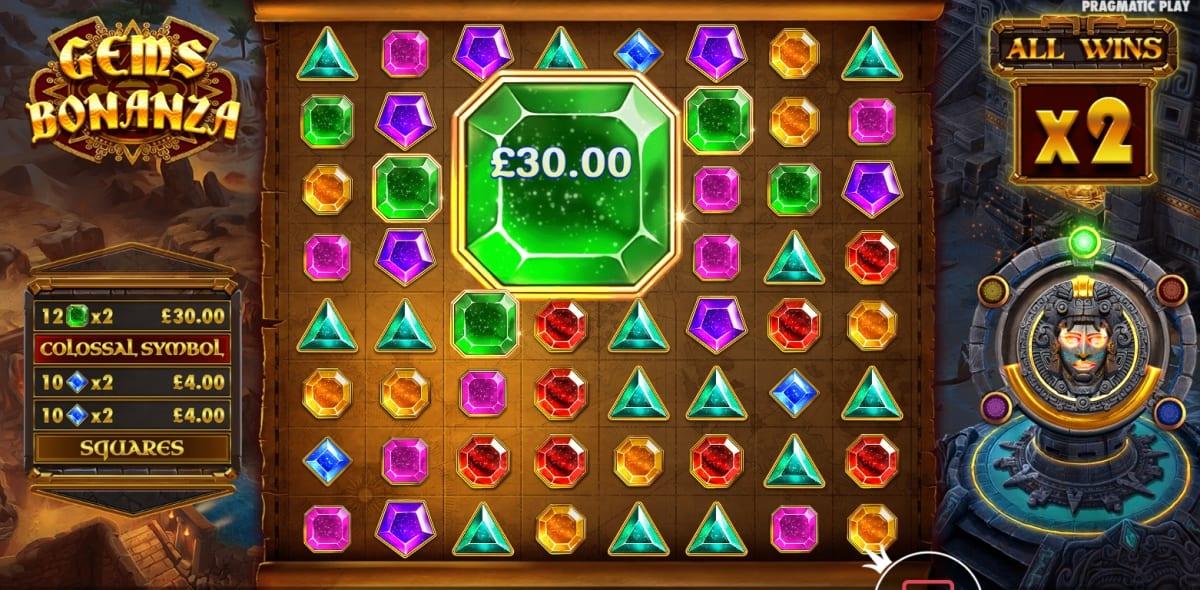 Gems Bonanza Slot Bonus