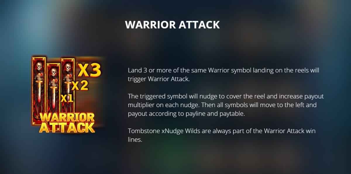 Warrior Graveyard Slot Paytable