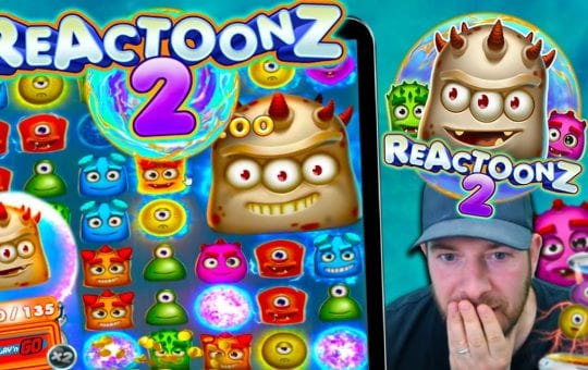 REACTOONZ 2!! 4 Gargas!! New Play n Go Slot, Any Good?