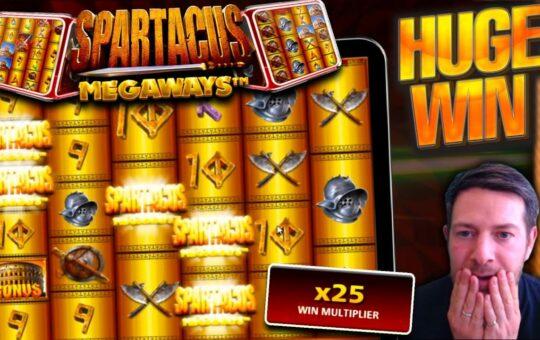 EPIC BIG WIN!! Spartacus Megaways Goes CRAZY!!
