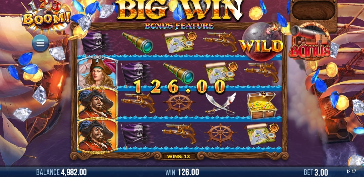 123 Boom Slot Bonus