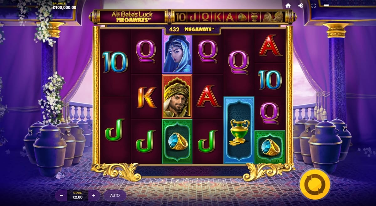 Ali Babas Luck Megaways Slot Gameplay