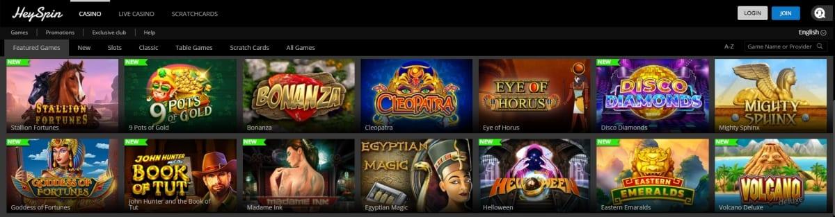 HeySpin Casino Slots And Games