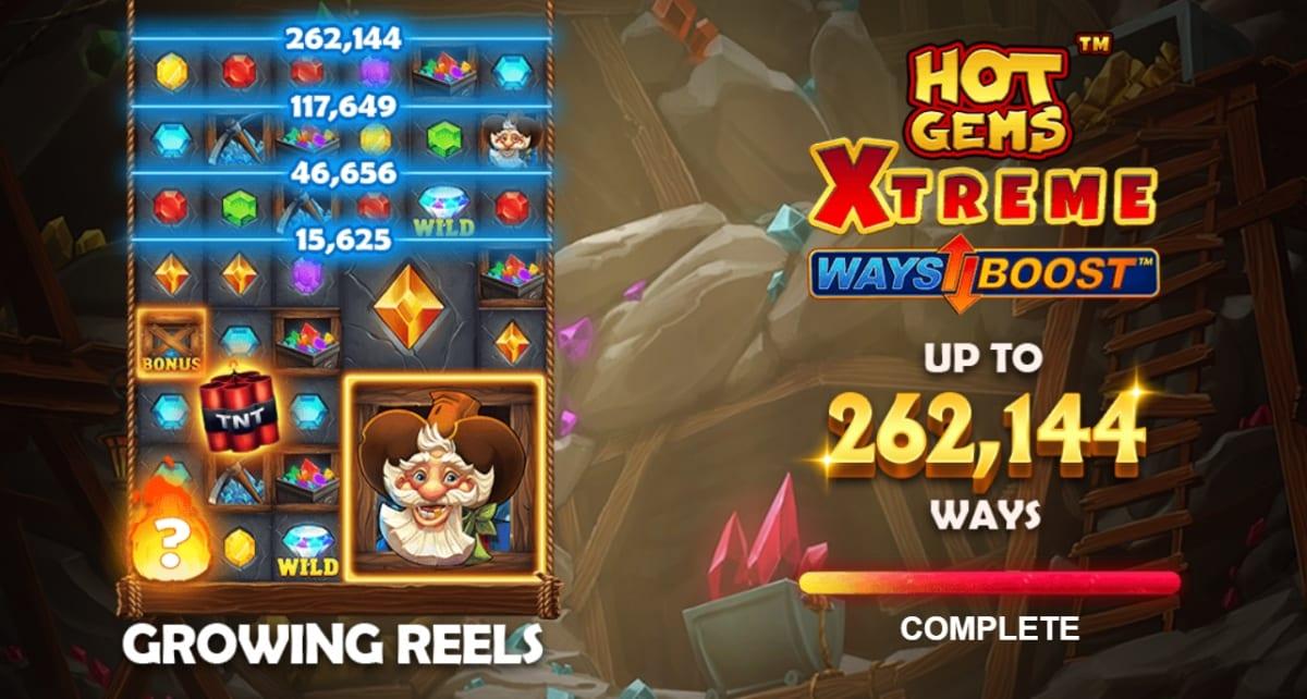 Hot Gems Xtreme Slot Ways Boost