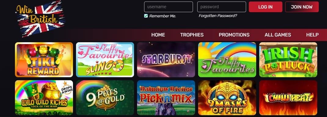 Win British Casino Slots And Games