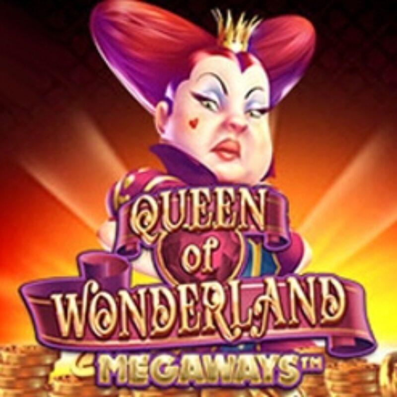 Queen of Wonderland Megaways Slot Logo