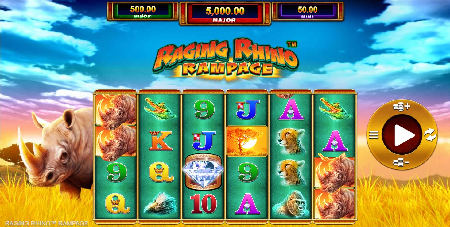Raging Rhino Rampage Slot Gameplay
