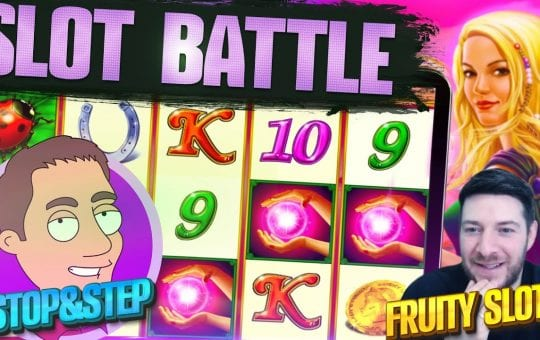 🔊 FRUITY SLOTS VS STOP & STEP! Slot Battle Special 😱