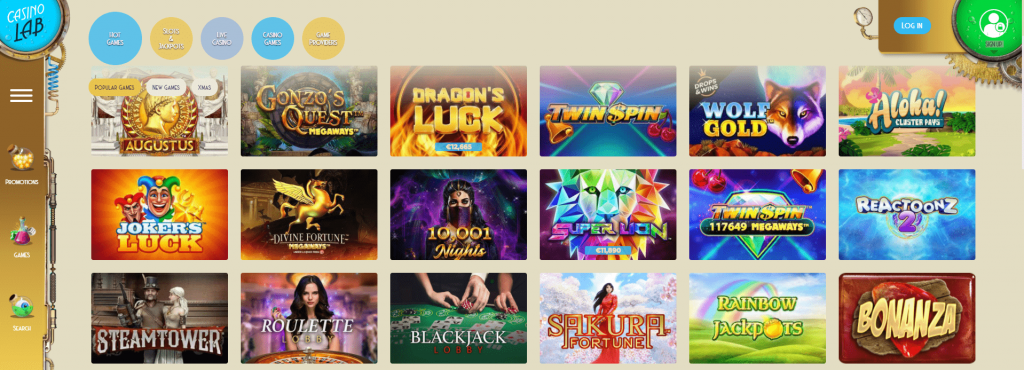 Casino Lab Slots And Games