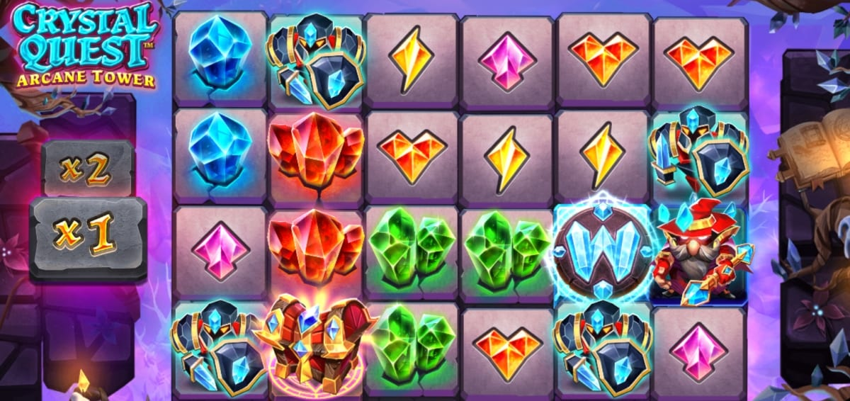 Crystal Quest Arcane Tower Slot Gameplay