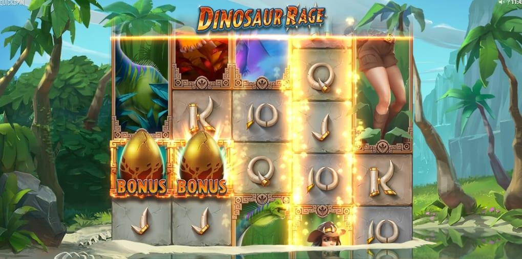 Dinosaur Rage Slot Bonus