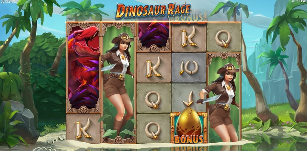 Dinosaur Rage Slot Gameplay