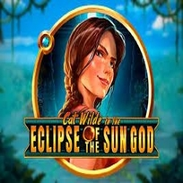 Cat Wilde in the Eclipse of the Sun God Slot Logo