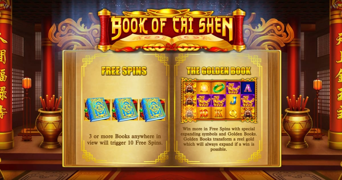 Book Of Cai Shen Slot Paytable
