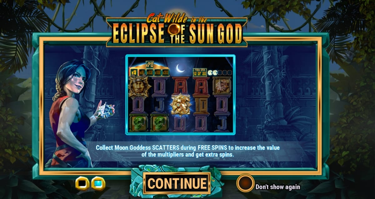 Cat Wilde in the Eclipse of the Sun God Slot Paytable