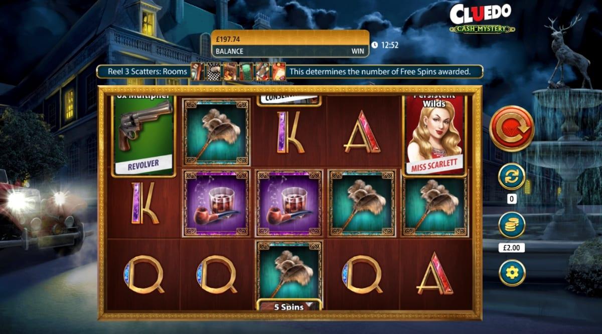 Cluedo Cash Mystery Slot Gameplay