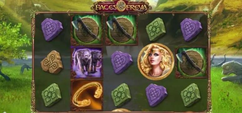 Faces of Freya Slot Gameplay