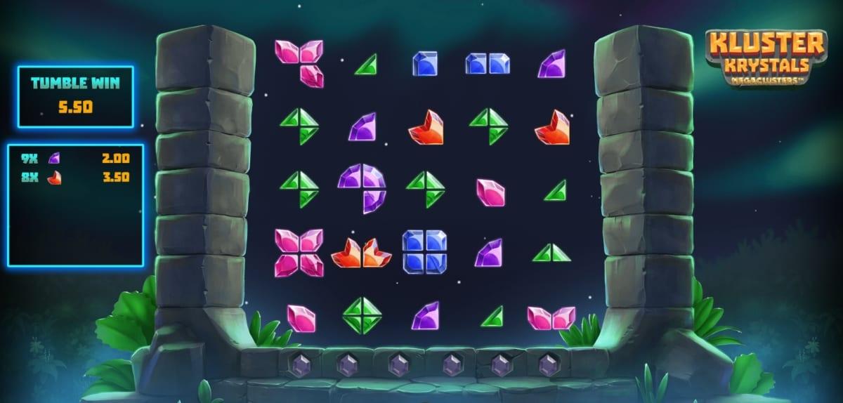 Kluster Krystals Megaclusters Slot Gameplay