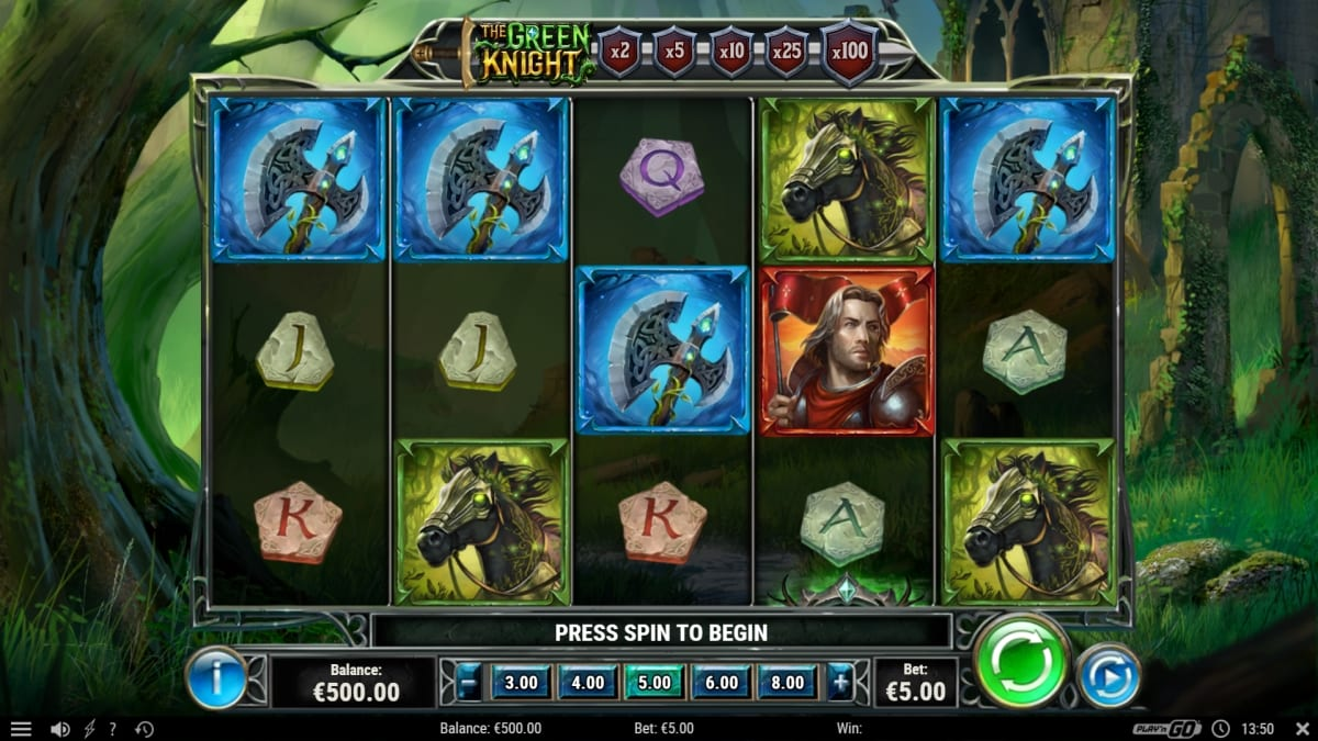 The Green Knight Slot Gameplay