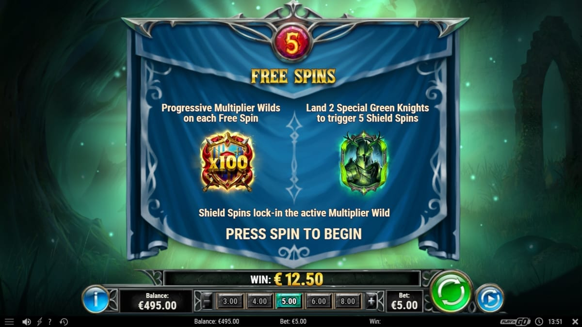 The Green Knight Slot bonus
