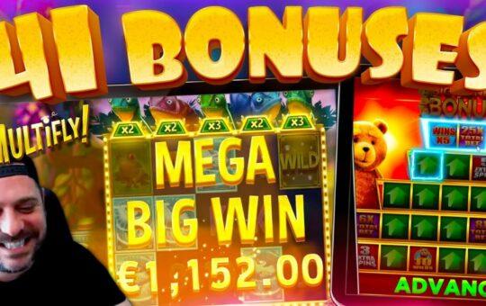 EPIC BONUS HUNT RESULTS!! 41 Slot Bonuses!