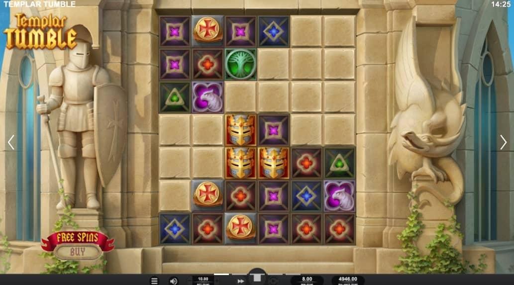Templar Tumble Slot Base Game