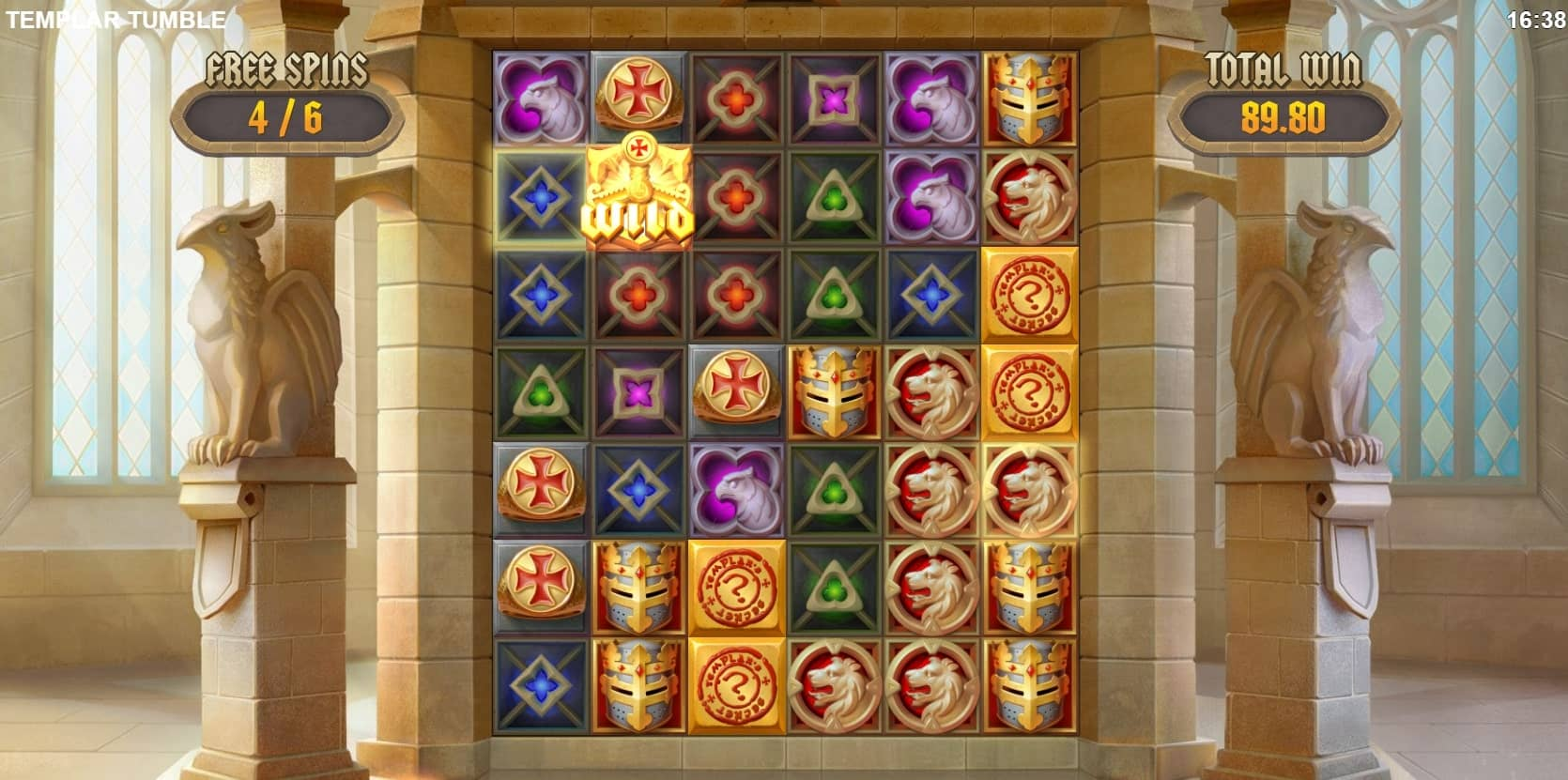 Templar Tumble Slot Free Spins