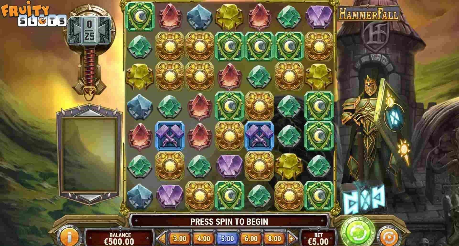 Hammerfall Slot Gameplay