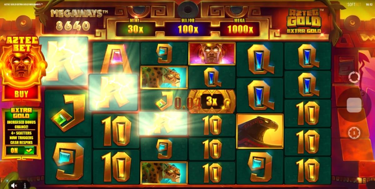 Aztec Gold: Extra Gold Megaways Slot Gameplay