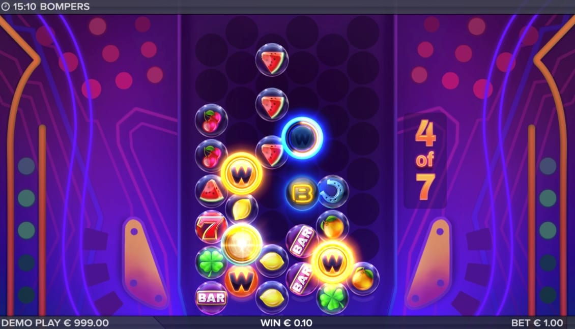 Bompers Slot Gameplay